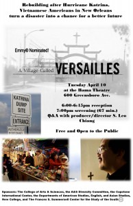 A Village Called Versailles flyer