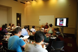 Laurel Kendall lecturing